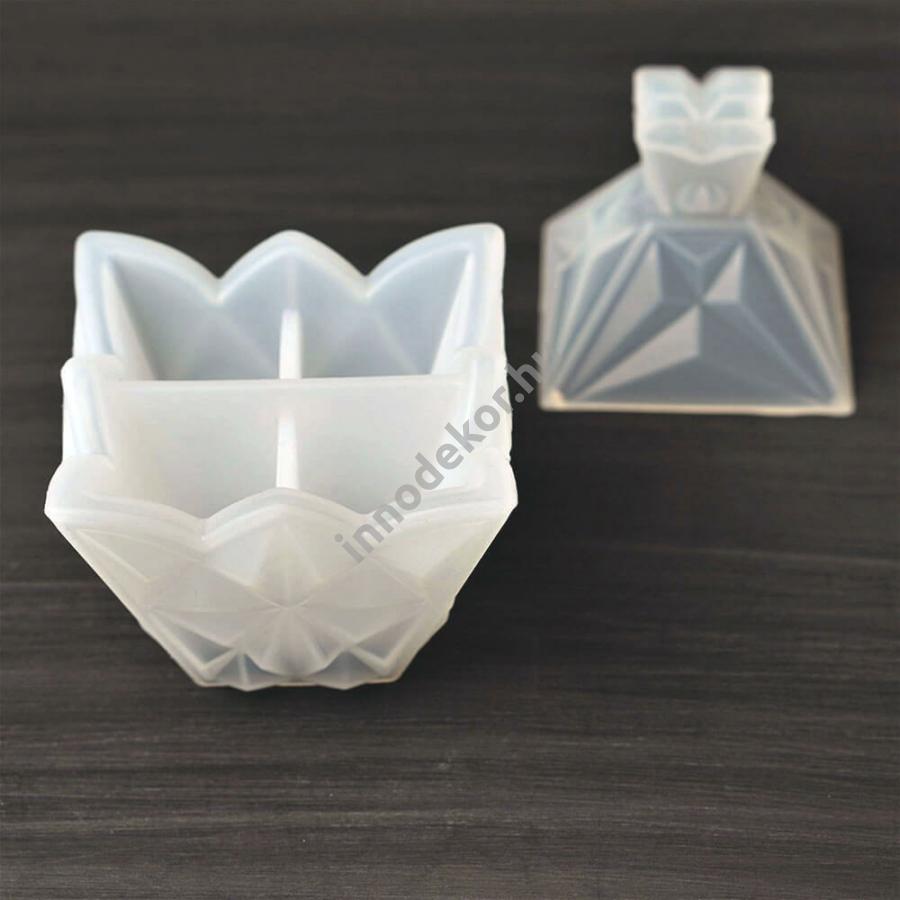 Öntőforma szilikonból - kristály dobozka