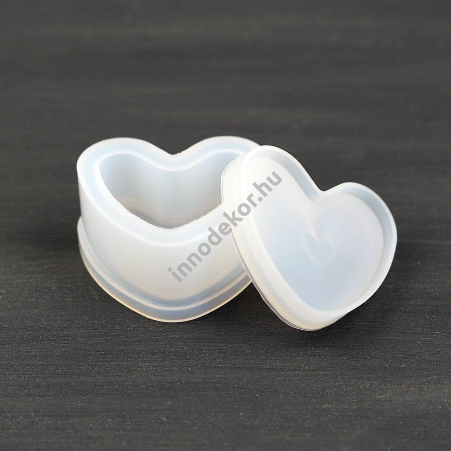 Öntőforma szilikonból - szív dobozka
