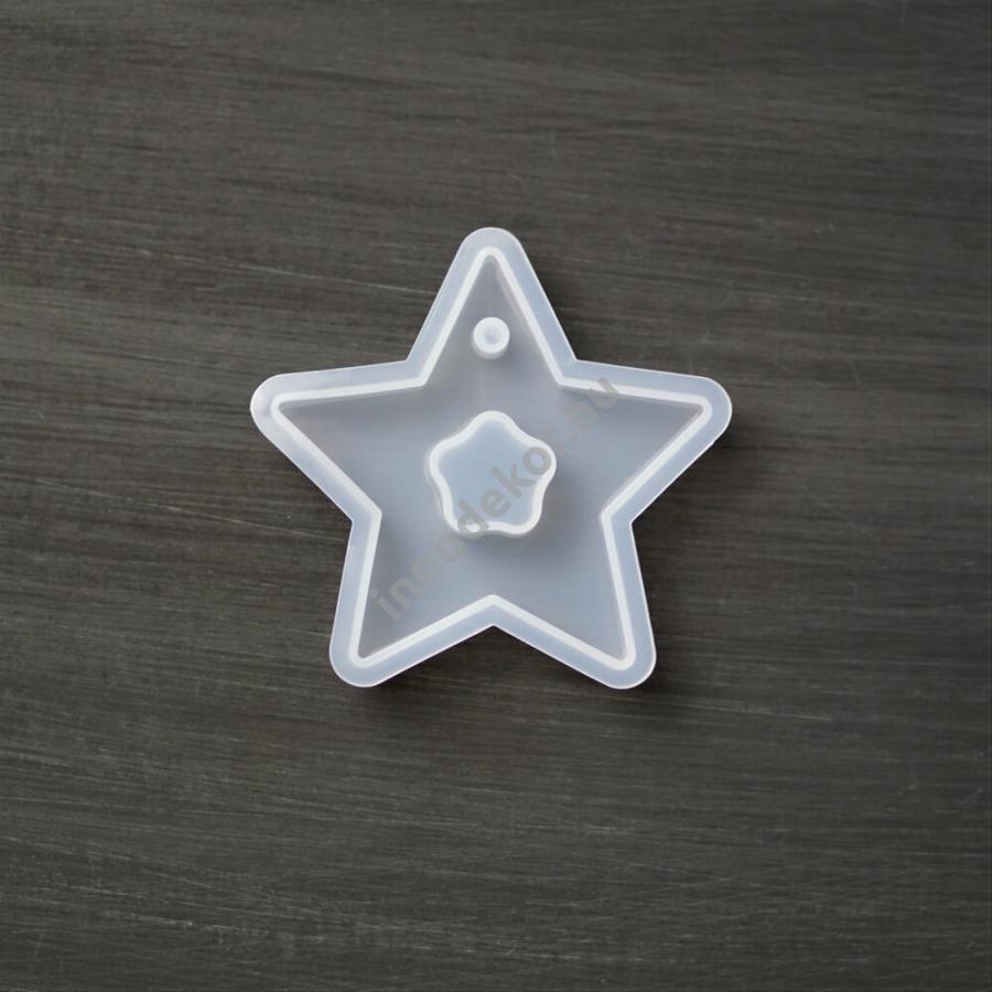 Öntőforma szilikonból - dupla csillag
