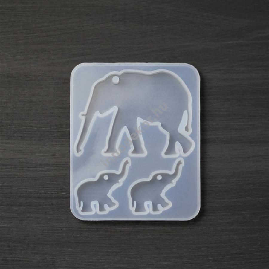 Öntőforma szilikonból - elefánt
