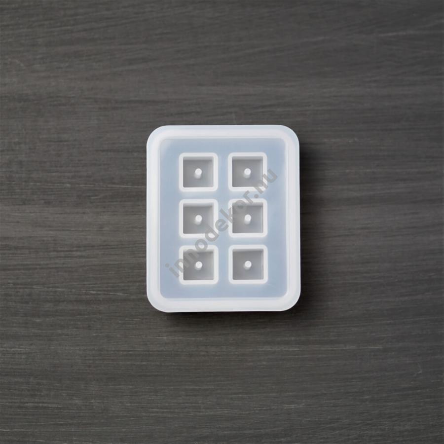 Öntőforma szilikonból - kocka alakú gyöngy, kicsi