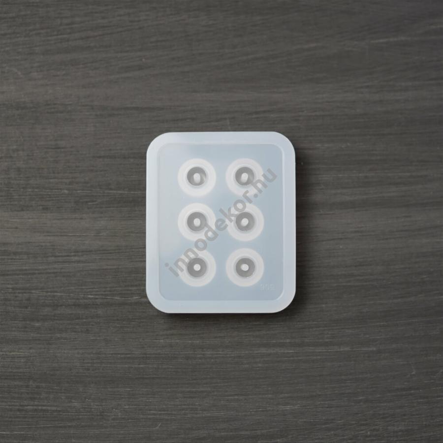 Öntőforma szilikonból - lapított gömb alakú gyöngy, kicsi