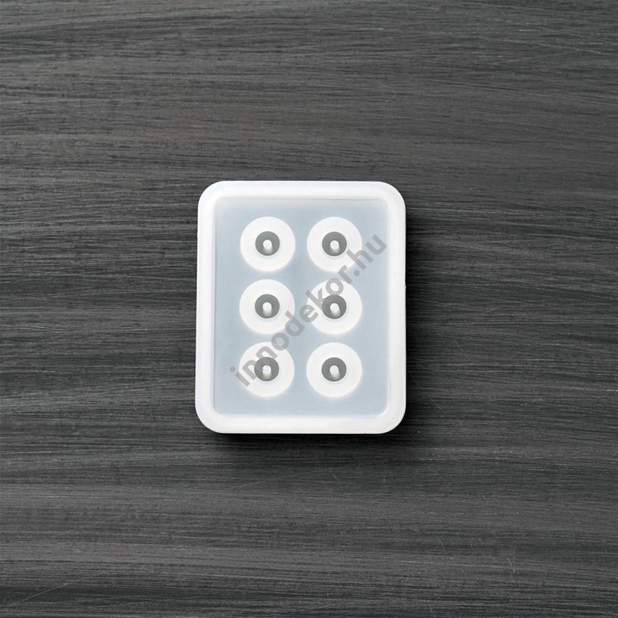Öntőforma szilikonból - ovális gyöngy, kicsi