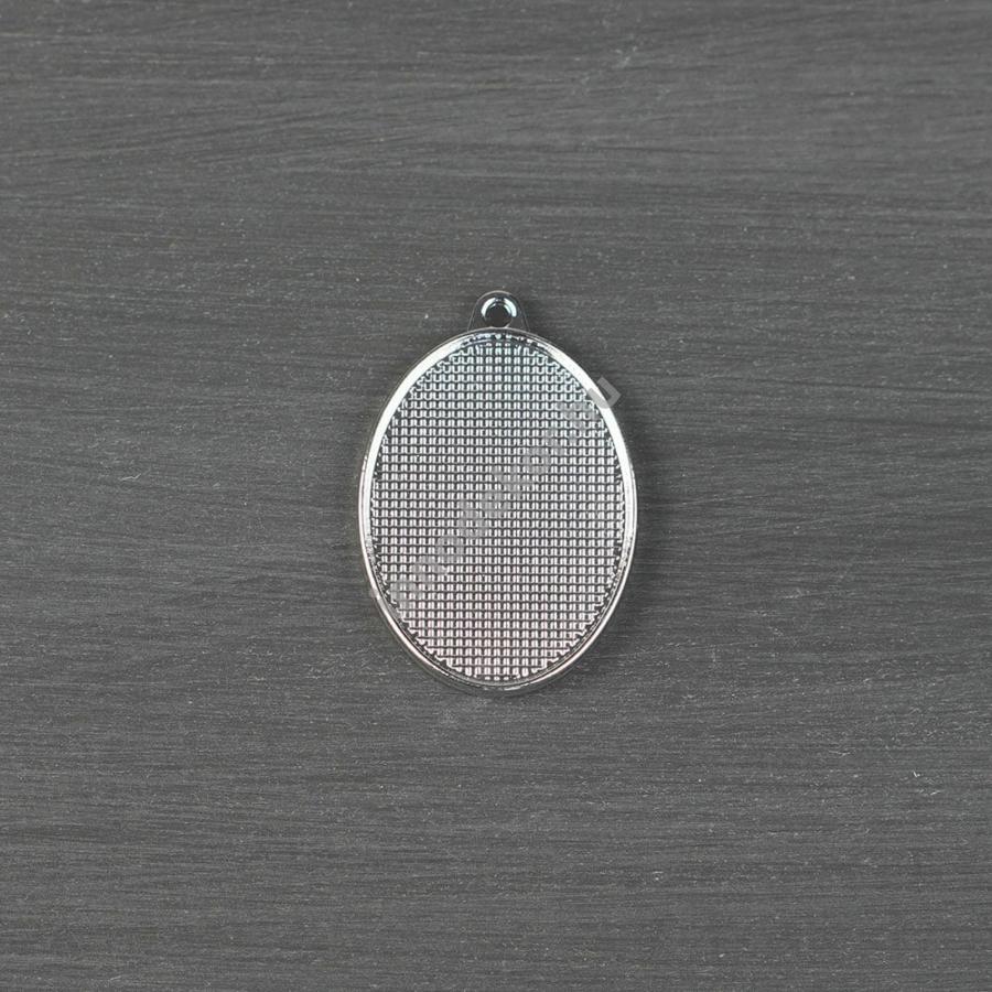Öntőforma szilikonból - fém medál, ovális