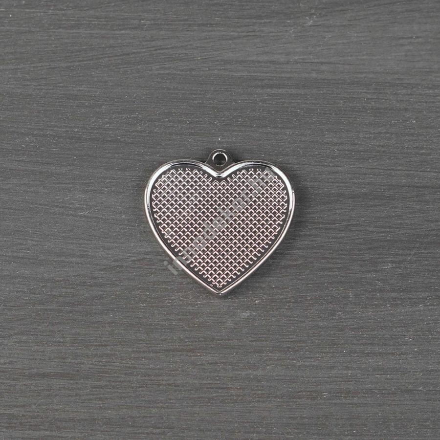 Öntőforma szilikonból - fém medál, szív