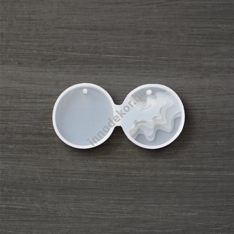 Öntőforma szilikonból - 3D medál, kör