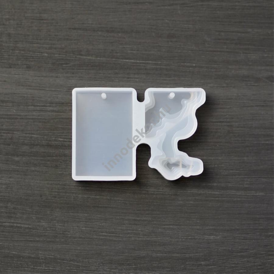 Öntőforma szilikonból - 3D medál, téglatest