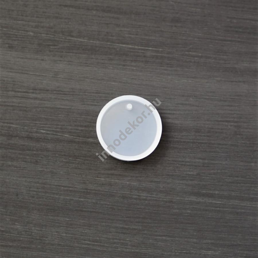 Öntőforma szilikonból - medál, kör