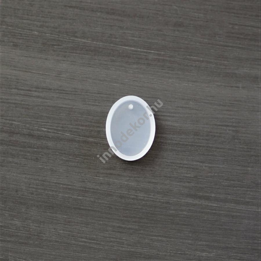 Öntőforma szilikonból - medál, ovális