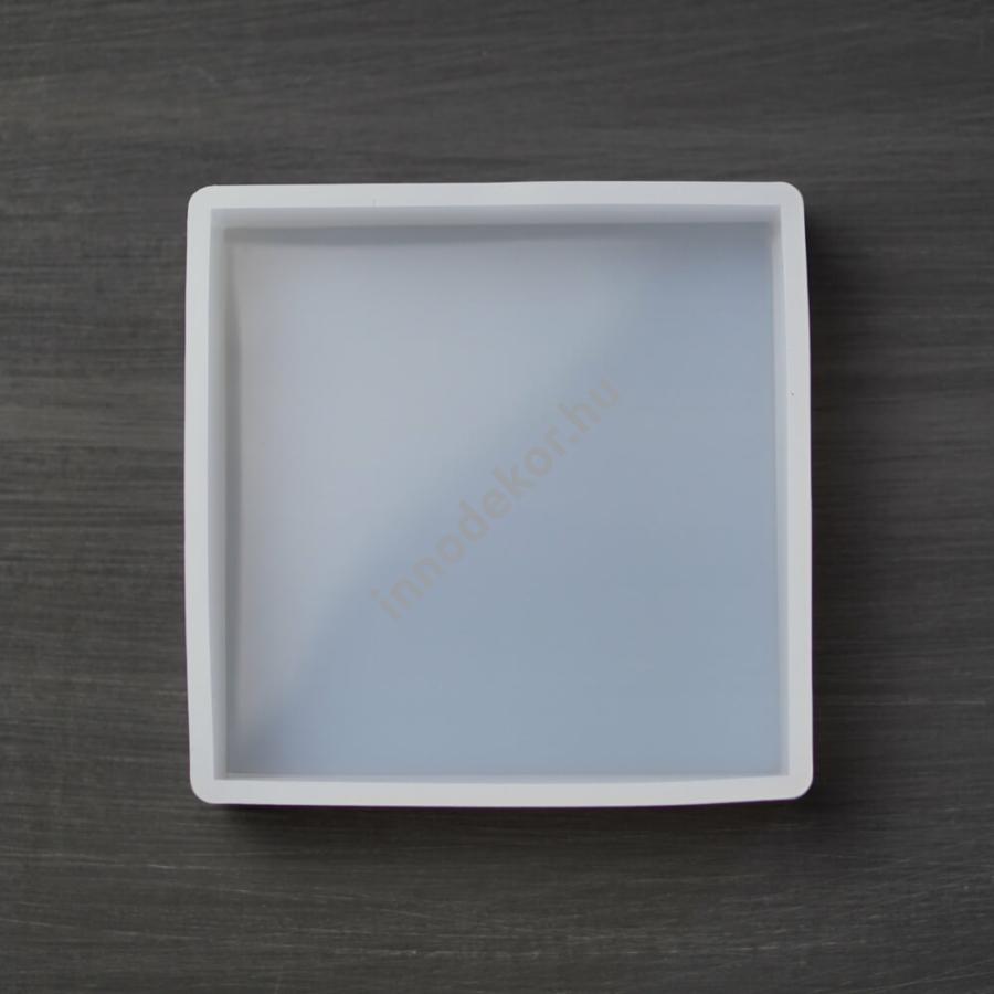 Öntőforma szilikonból - négyzet, 10x10 cm