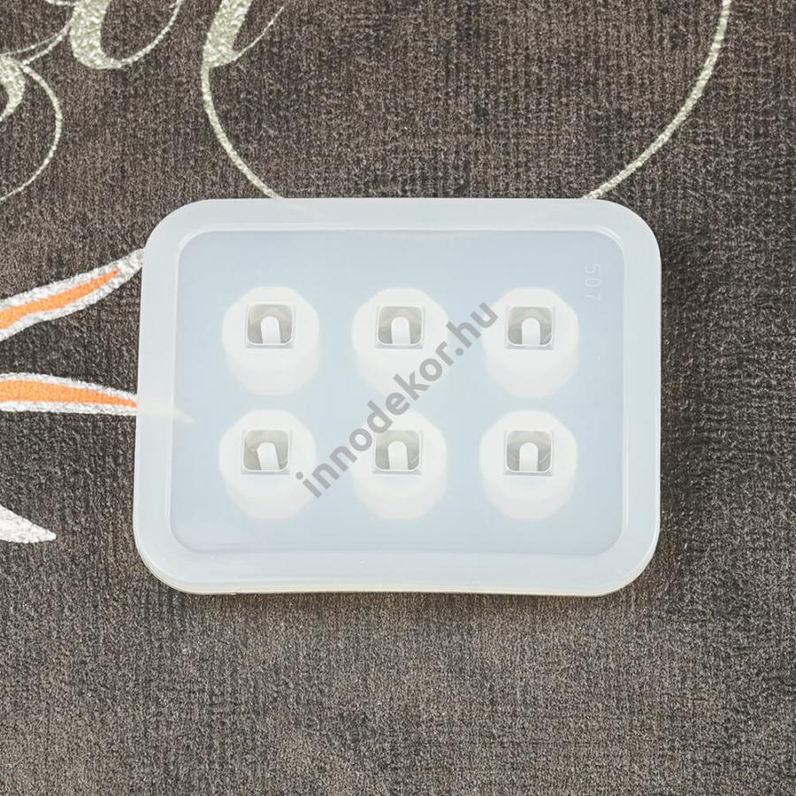 Öntőforma szilikonból - gyöngy, kristály kocka, kicsi