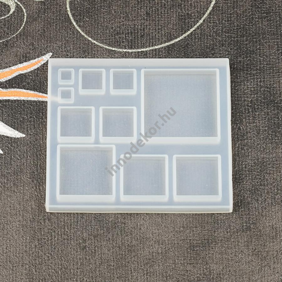 Öntőforma szilikonból - négyzetek