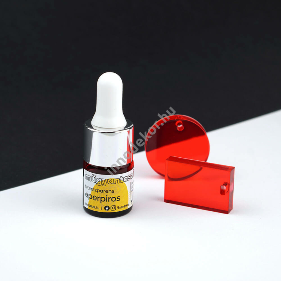 Innodekor műgyantaszínező tinta - eperpiros