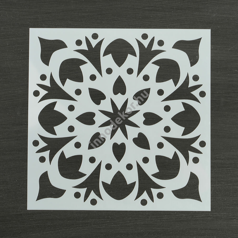 Festősablon (stencil) - Amira, virág mandala minta