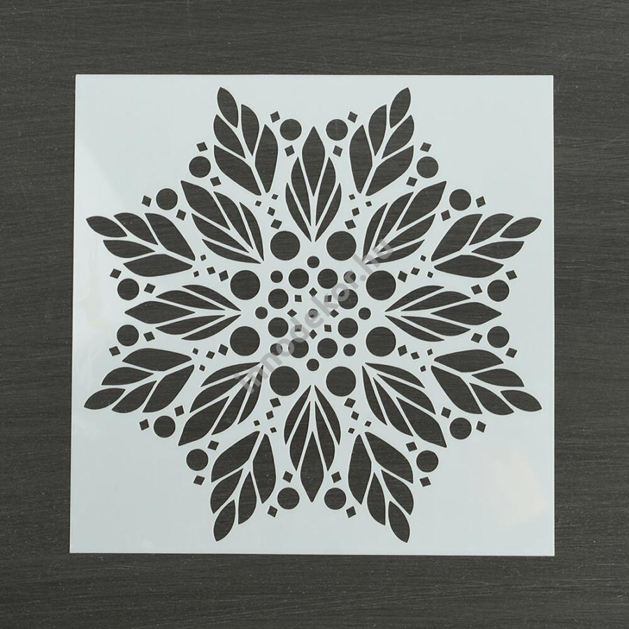 Festősablon (stencil) - Elza, jégvirág minta