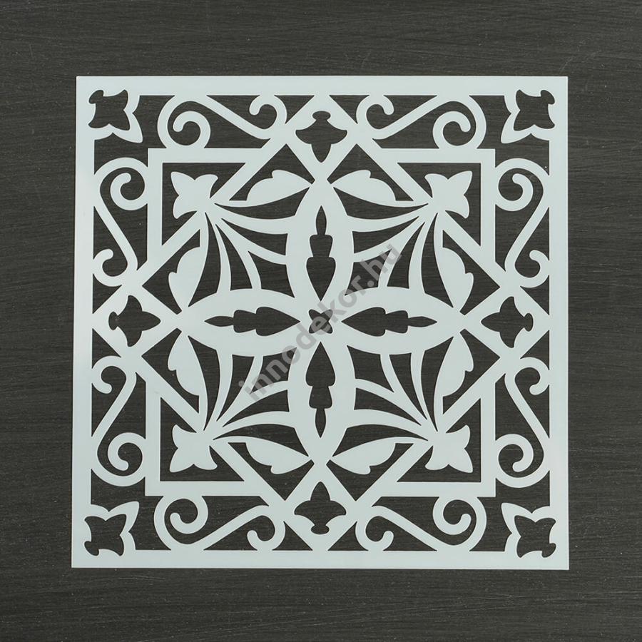 Festősablon (stencil) - Jázmin, keleti minta