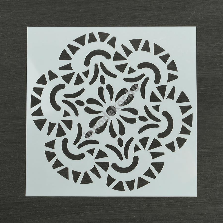 Festősablon (stencil) - Bianka, virág mandala minta