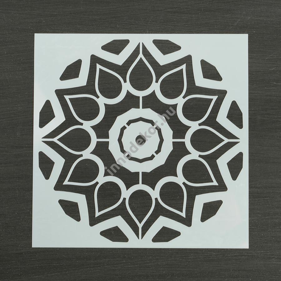 Festősablon (stencil) - Adél, virág mandala minta