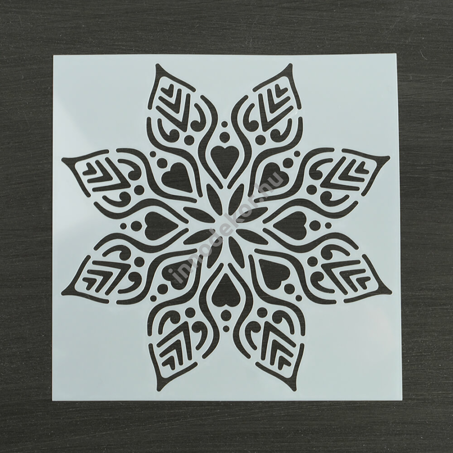 Festősablon (stencil) - Anna, jégvirág minta