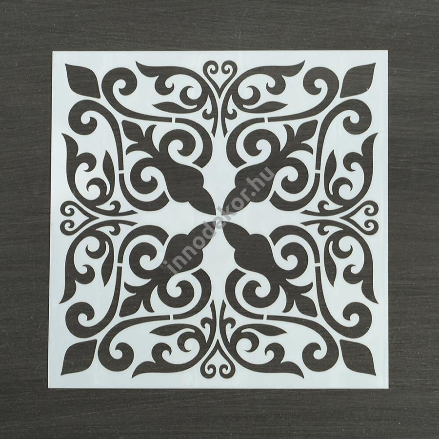 Festősablon (stencil) - Izabella, klasszikus minta