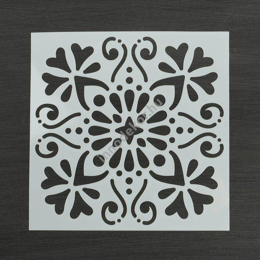 Festősablon (stencil) - Johanna, klasszikus minta