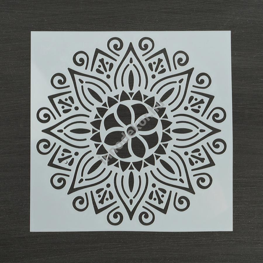 Festősablon (stencil) - Johanna, virág mandala minta
