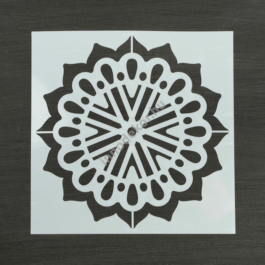Festősablon (stencil) - Regina, virág mandala minta