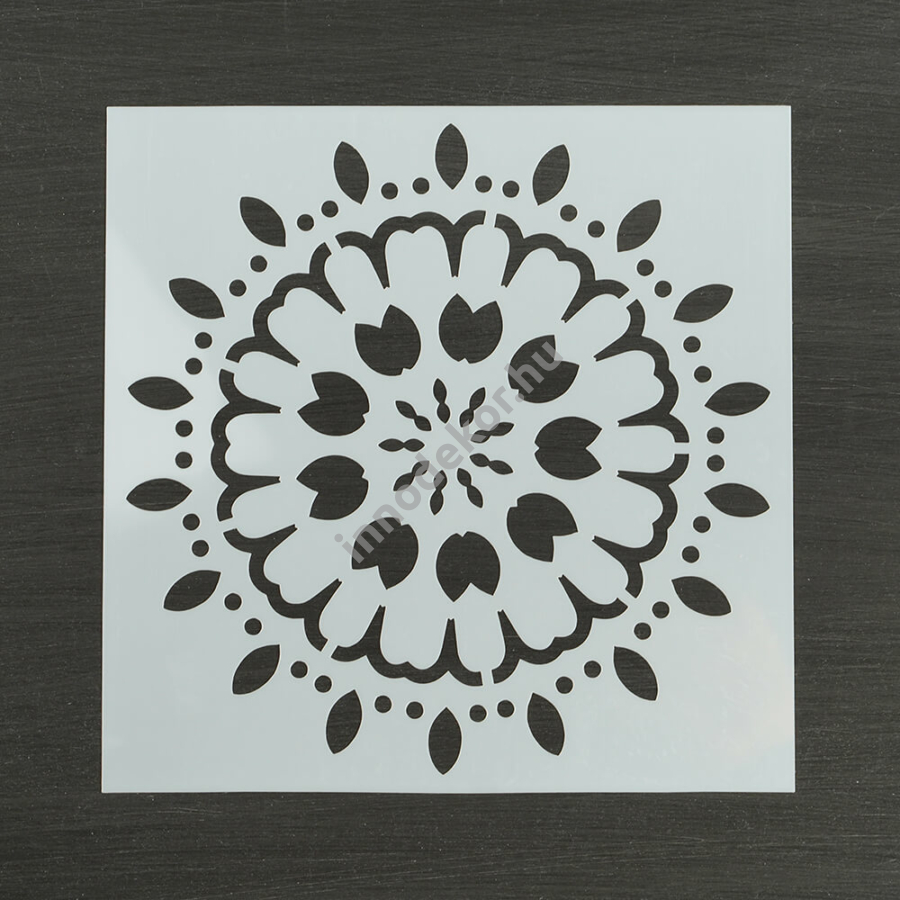 Festősablon (stencil) - Kamilla, virág mandala minta