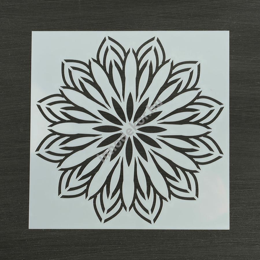 Festősablon (stencil) - Viktória, virág mandala minta