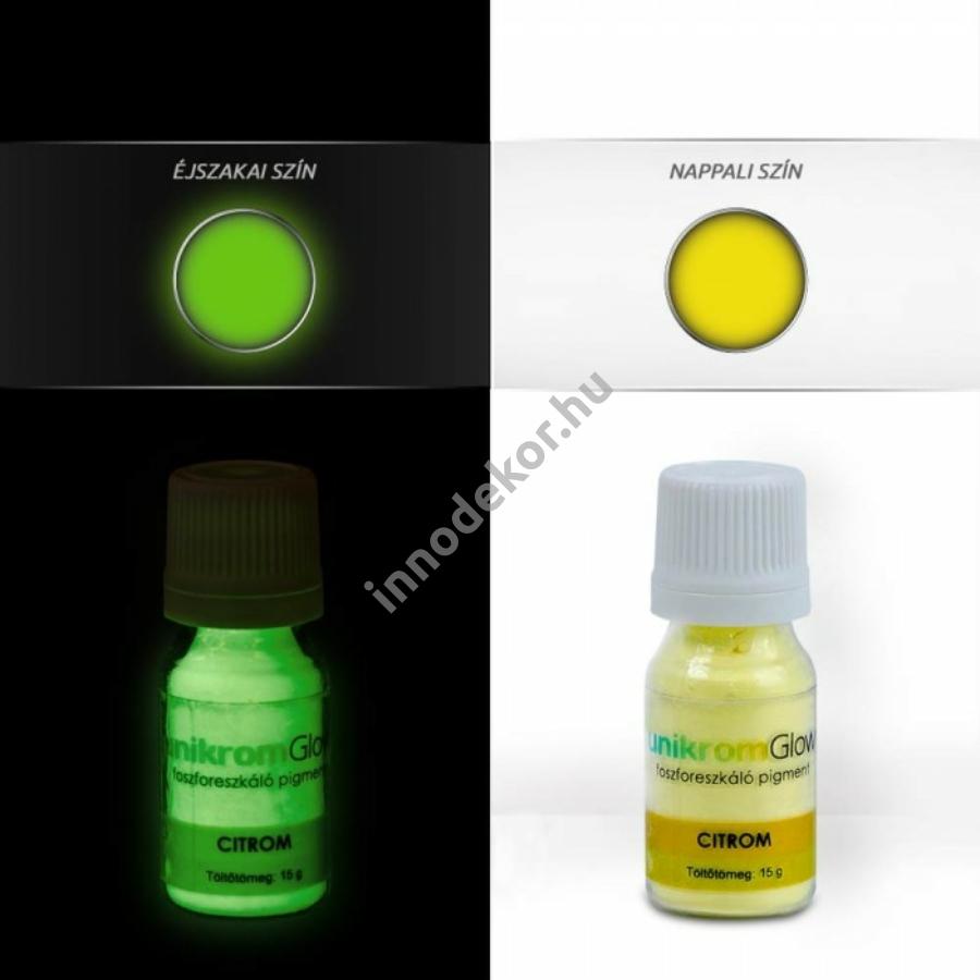 Innodekor foszforeszkáló pigment - citrom, 15g