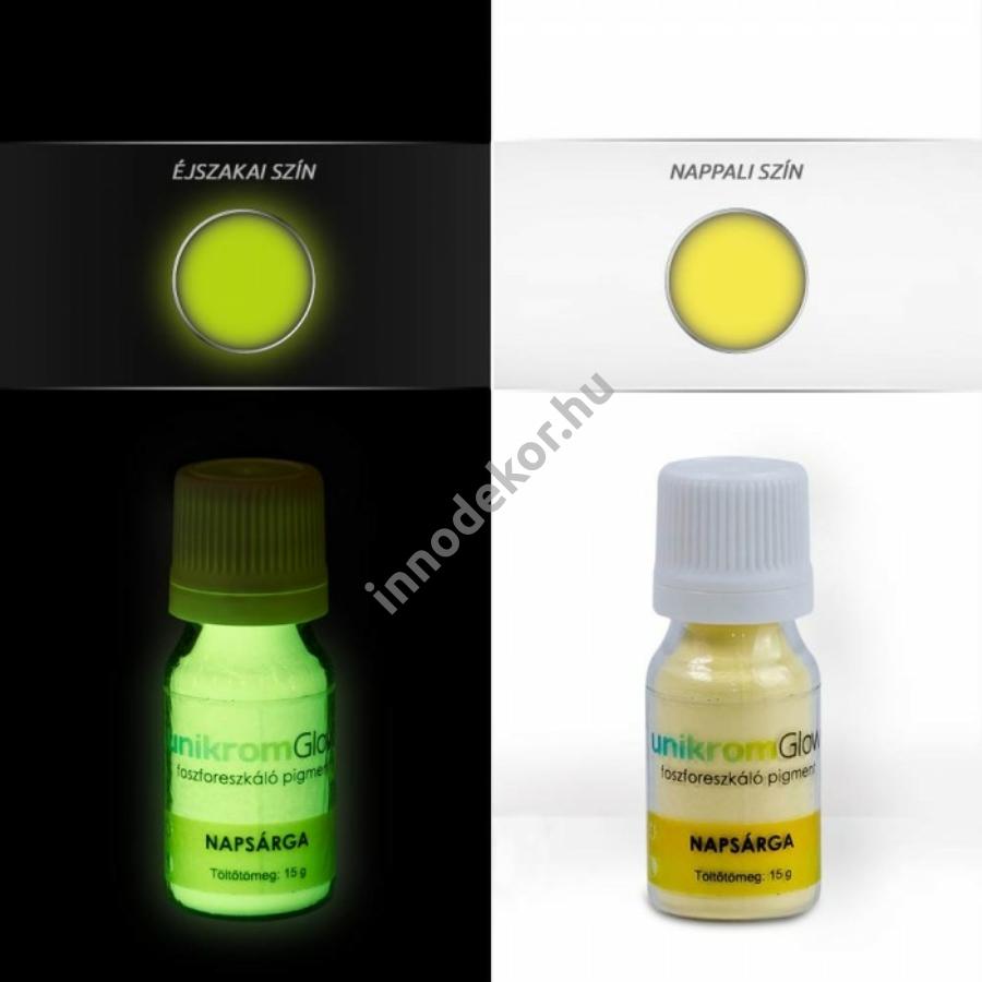 Innodekor foszforeszkáló pigment - napsárga, 15g