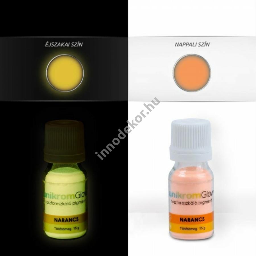 Innodekor foszforeszkáló pigment - mandarin, 15g