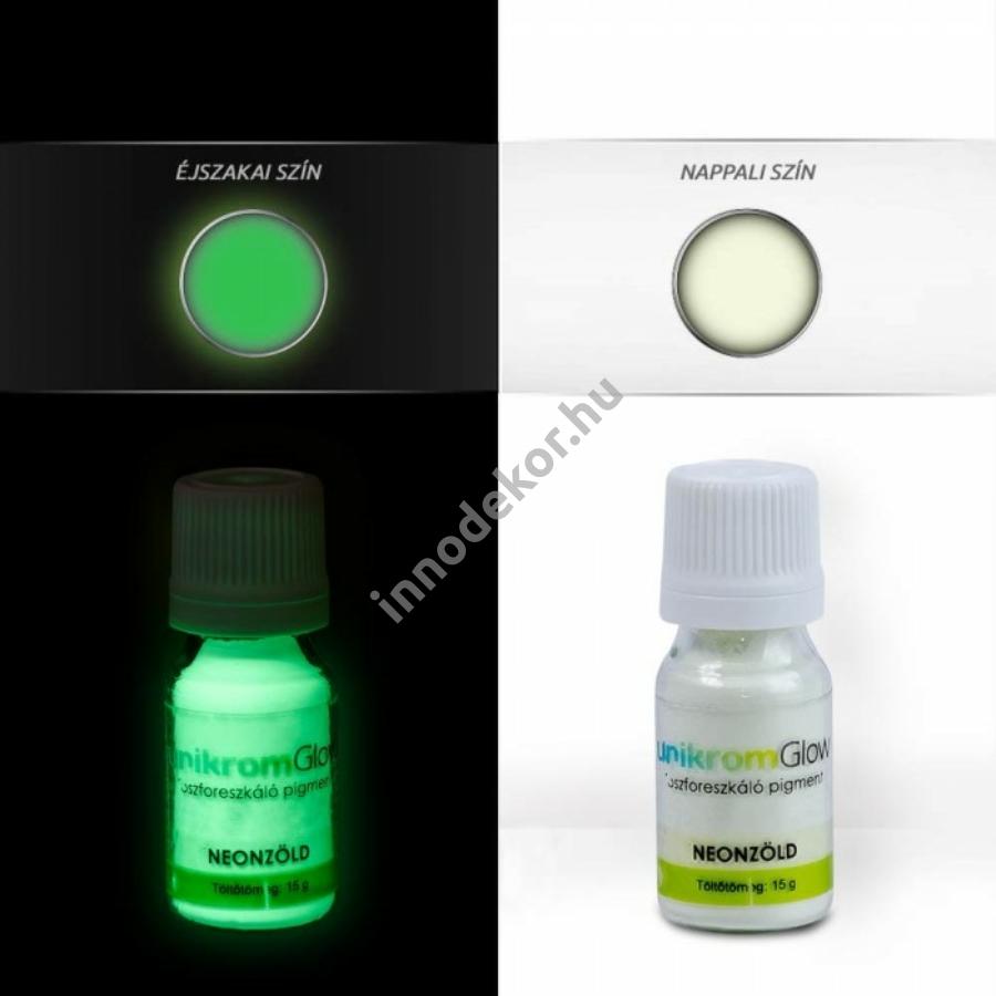 Innodekor foszforeszkáló pigment - neonzöld, 15g