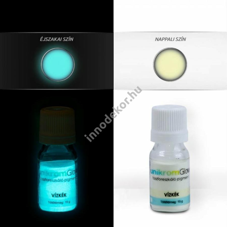 Innodekor foszforeszkáló pigment - vízkék, 15g